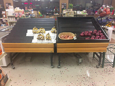 Marco four foot produce display on casters. Great condition. Store closing.