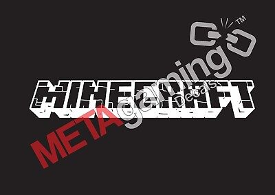 Minecraft game logo for Nintendo PC PS Xbox or Car Decal Sticker