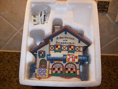 Dept 56 Lighted Alpine Village Federbetten Und Steppdecken Christmas Decor