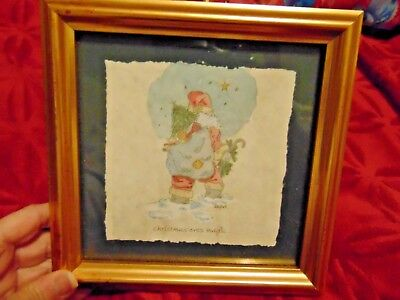 Original Framed  Water Color Of Saint Nick/santa Claus By  Mary Hughes