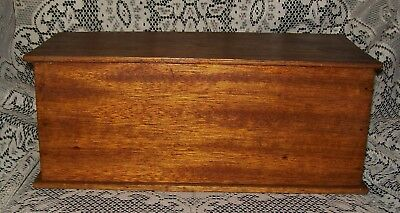 """VINTAGE HAND CRAFTED WOOD BOX """"signed on the Macedon 5th August 1944"""" 32x15x13cm"""
