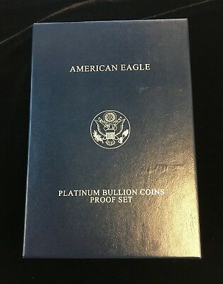 2008 4 Coin Proof Platinum American Eagle Set w/ Box & COA! Rare!