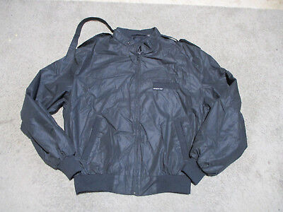 VINTAGE Members Only Jacket Adult Medium Size 42 Black Coat Retro Mens 80s