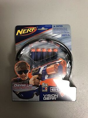 Nerf Elite Vision Gear Goggles Includes 5 Darts