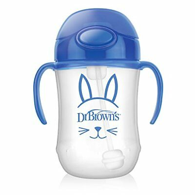 Dr. Brown's Baby's First Straw Cup Cute Critters Blue 9 ounce Single
