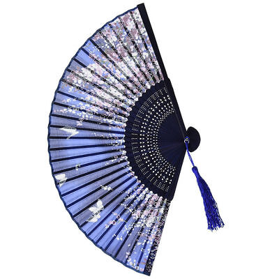 Pattern Folding Dance Wedding Party Lace Silk Folding Hand Held Flower Fan New