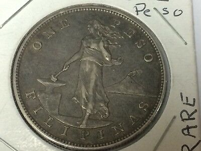1904 One Peso United States Of America .900 Silver