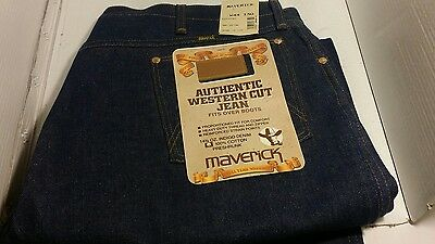 Maverick authentic Western cut jeans fits over boots W44 X 30 NWT