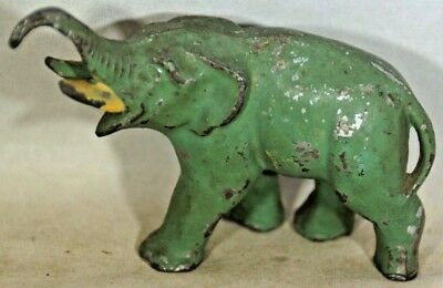 Vintage Green Diecast Metal Elephant w/Issues To One Leg-1129