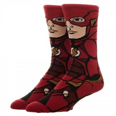 DC Comics Justice League The Movie The Flash 360 Crew Socks NEW Licensed