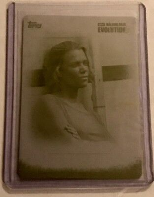 2017 Topps The Walking Dead Evolution Yellow Printing Plate Andrea IN MEMORIAM