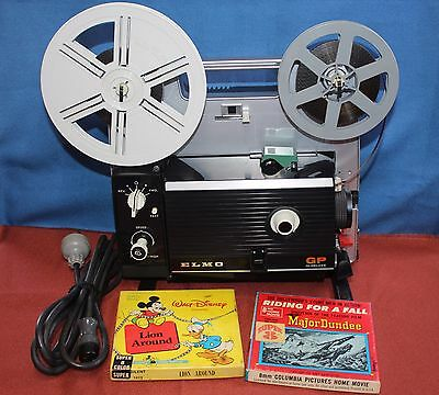 PROJECTOR HEAVEN. ELMO GP HI-DELUXE DUAL 8mm MOVIE PROJECTOR 1.3 LENS, 150w LAMP