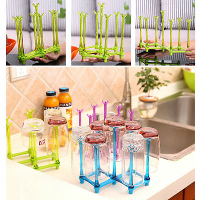 Baby Feeding Bottle Rack Drying Nipple Cup Stand Storage Drainer Dryer Folding