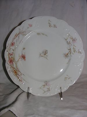 Late 1800's Haviland China French Limoges Peach Flower Dinner Plate