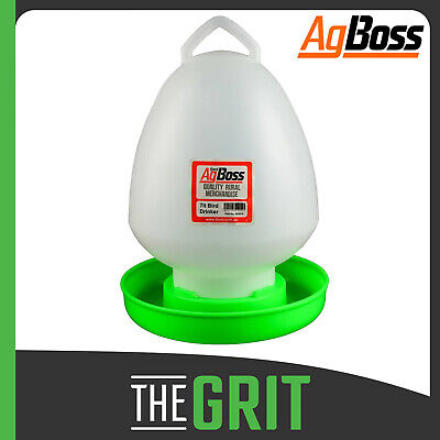 AgBoss Red Poultry Ball Drinker Feeder 7 Litre Chicken Hen Chook