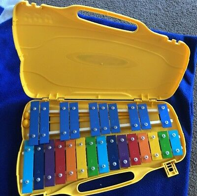 25 Notes  Kids Glockenspiel Percussion Rhythm Musical Toy with 2 Mallets