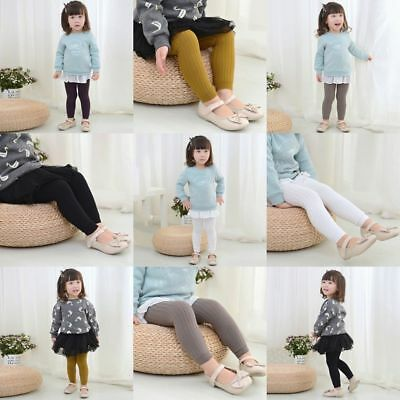 US Kids Baby Girl Warm Pantyhose Toddler Children Candy Color Tights Trousers