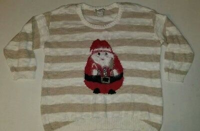 Santa sz L can fit S M L TACKY UGLY CHRISTMAS SWEATER