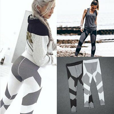 Women Sports Pants High Waist Fitness Leggings Running Gym Stretch Slim Trousers