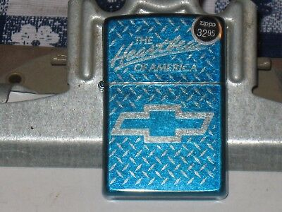New Windproof ZIPPO USA LIGHTER Chevrolet Chevy The Heartbeat of America Bow tie