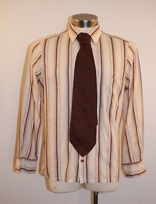 "Medium Original Vintage Mens  Shirt & Tie.""target"""