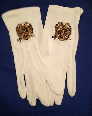 Masonic 32nd Degree  Gloves