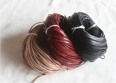 20m Genuine Leather Cord, Cow Leather Lace 3x1mm