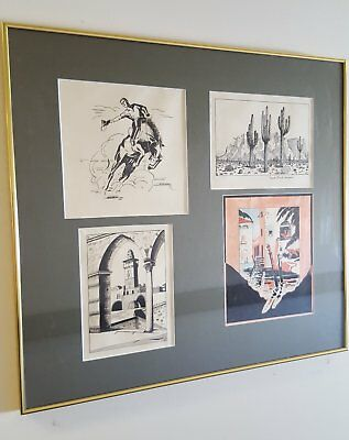 Collection of original drawings by Desmond Collings Power