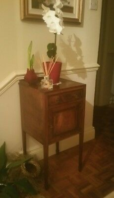 Small Hall, Bedside, Edwardian Inlaid Cabinet