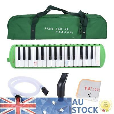 QIMEI Green 32-Key Melodion Melodica w/ 2 Mouthpieces Christams Gift AU Shipping