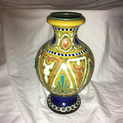 Tall Gouda Vase in a Unique Shape, Made in Holland