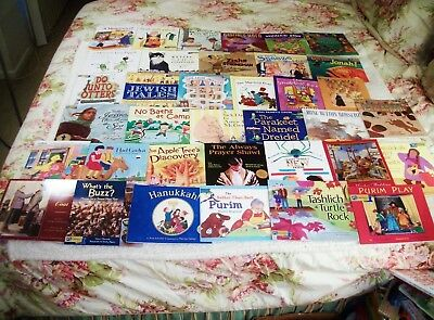 Huge Lot 38 PJ Library Jewish Picture Books Kids Homeschool Holidays Values