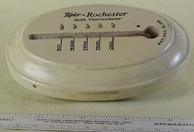 Vintage Taylor Rochester Baby Wood Thermometer Patent 1919 with Instructions