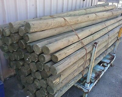 Treated Pine Round Poles 75-100mm x 3.0m long H4