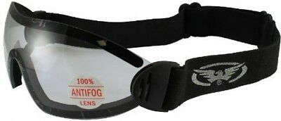 Global Vision Flare Riding Goggles (Black Frame/Clear Lens)