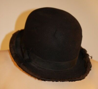 "Original Vintage Bowler Hat ""The Lelewer Hat "" Chicago 6 7/8Ths"