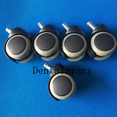 5pcs Dentist Chair Rubber Replacement for Swivel Wheel Office Chair Caster