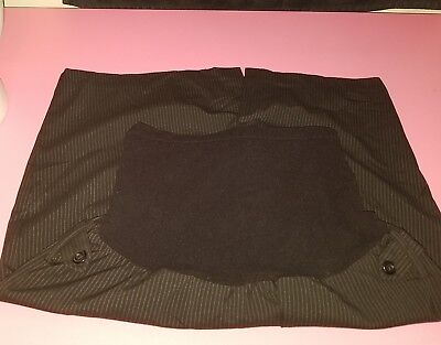Motherhood Maternity Dkirt size Large Career Pinstriped Black#116