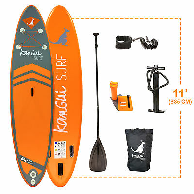 Kangui - Stand up Paddle 335cm SUP gonflable + pagaie + sac à dos + pompe haute