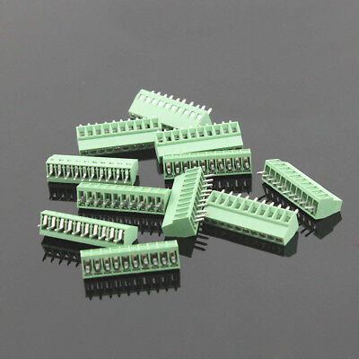 10 poles/10Pin 10P 2.54mm 0.1'' PCB Universal Screw Terminal Block Connector Lot