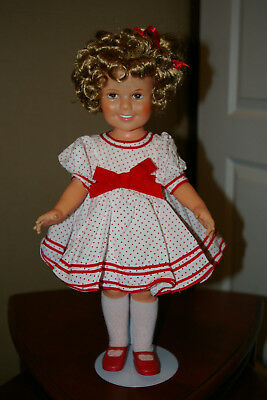 Shirley Temple 1970's 16 To 16.5 Inches  Doll Stand Up And Cheer Stand Included