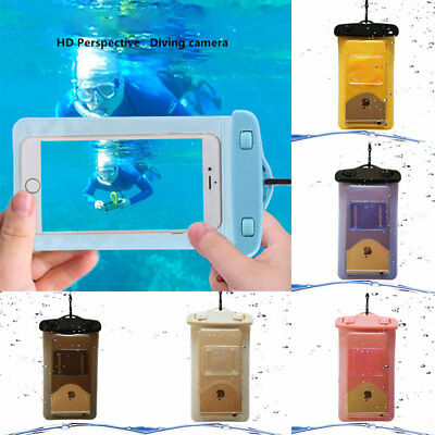 Waterproof Underwater Floating Swim Drifting Phone Dry Bag Armband Cover Pouch #
