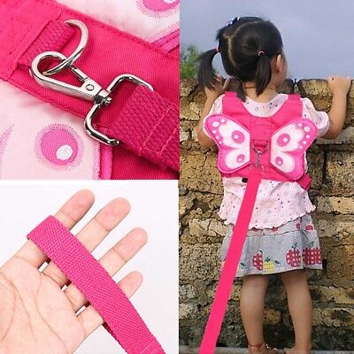 Baby Kid Anti-Lost Strap Butterfly Walking Belt Safety Harness Leash Backpack US