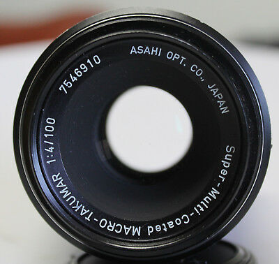 PENTAX / ASAHI SUPER-MULTI-COATED Macro Takumar  1:4/100 LENS,  SECOND HAND