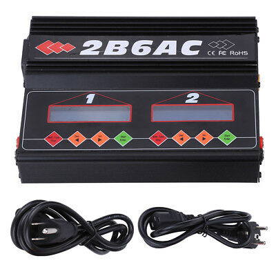 2B6AC 50W*2 Dual Power AC DC Balance Charger Discharger for LiPo NiMH Pb Battery