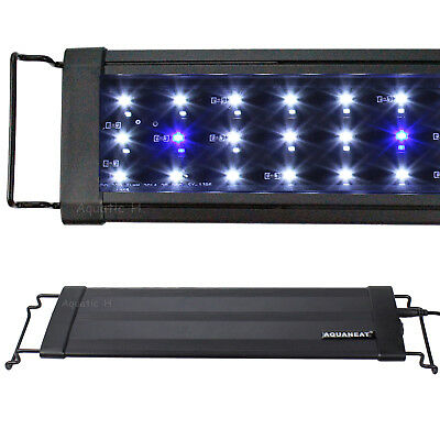 "12""/18""/24""/30""/36""/48""/72"" LED Light Extendable Aquarium FOWLR 0.1W Blue&White"