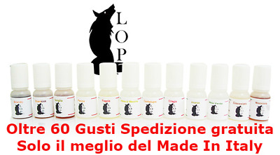 LOP AROMA CONCENTRATO - AROMI LOP 10 ml 71 GUSTI - SOLO MADE IN ITALY