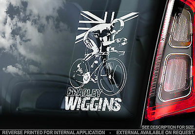 Bradley Wiggins - Car Window Sticker - Cycling Tour de France - Wiggo TdF Sign