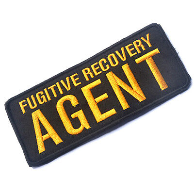 Fugitive Recovery Agent Tactical Patches Morale Badge Embroidered Hook Patch ^01