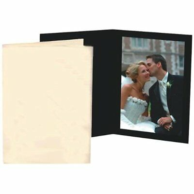 Digital Picture Frames Black Waffle Cardboard Photo Folder For 5x7 Pack Of 100